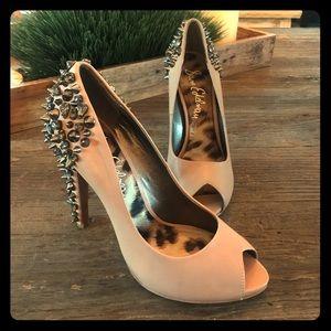 Sam Edelman tan studded heels size 7 1/2 m